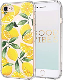 iPhone 8 Case, iPhone 7 Case, MOSNOVO Lemon Clear Design Transparent Printed Plastic Hard Back Case with TPU Bumper Protective Case Cover for Apple iPhone 7 (2016)/iPhone 8 (2017) (4.7 inch)