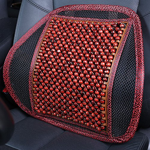 AMYMGLL lombaire voiture coussins de taille perles en bois oreiller taille de massage quatre saisons commun