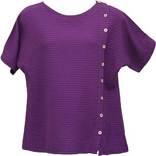 Ezze Wear Women`s Purple Mirage Cotton Becca Top