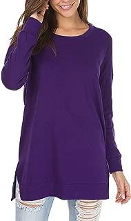 Women's Long Sleeve Cowl Neck Casual Tunic Top