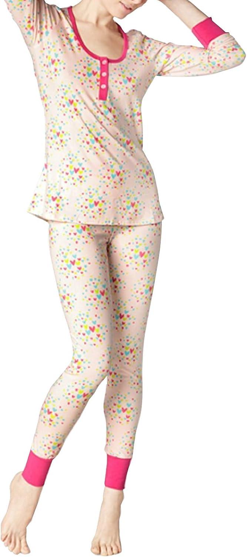 BedHead Pajamas Confetti Hearts Stretch L S Henley PJ Set 1097S2727