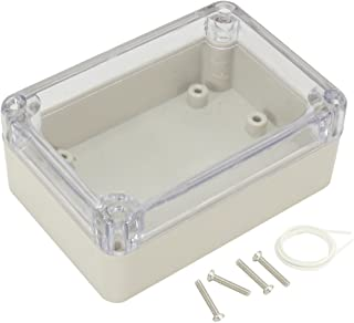 "Awclub ABS Plastic Junction Box, Dustproof Waterproof IP65 Electrical Box - Universal Project Enclosure Grey, with PC Transparent/Clear Cover 3.26""x2.28""x1.3""(83mm x 58mm x 33mm)"