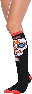 amscan Sugar Skull Knee High Socks, Multicolor