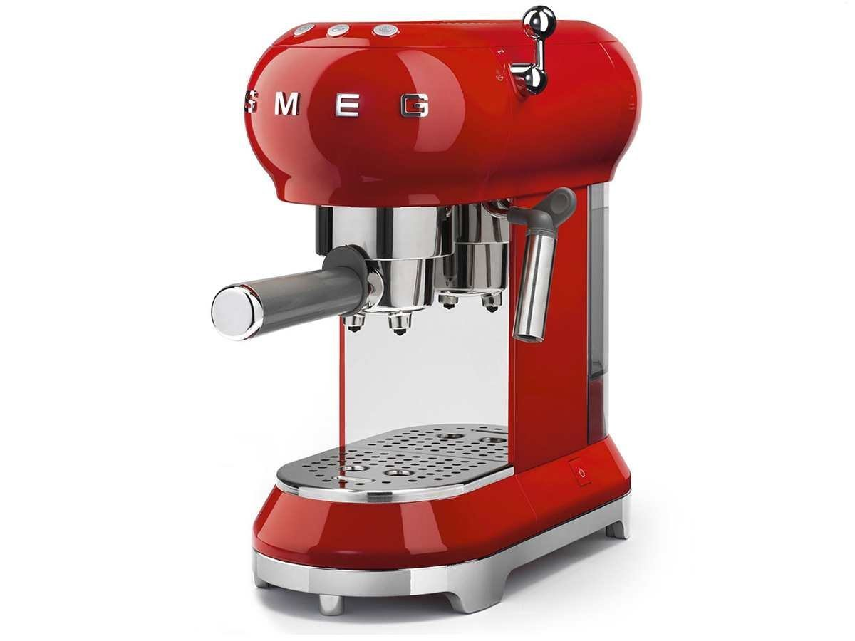 ECF01 - Máquina de café con portafiltro rojo/14,9 x 33 x 30cm ...