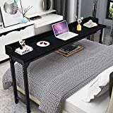 Overbed Table Laptop Desk – Bizzoelife 71 Inches Mobile Computer Desk Rolling...