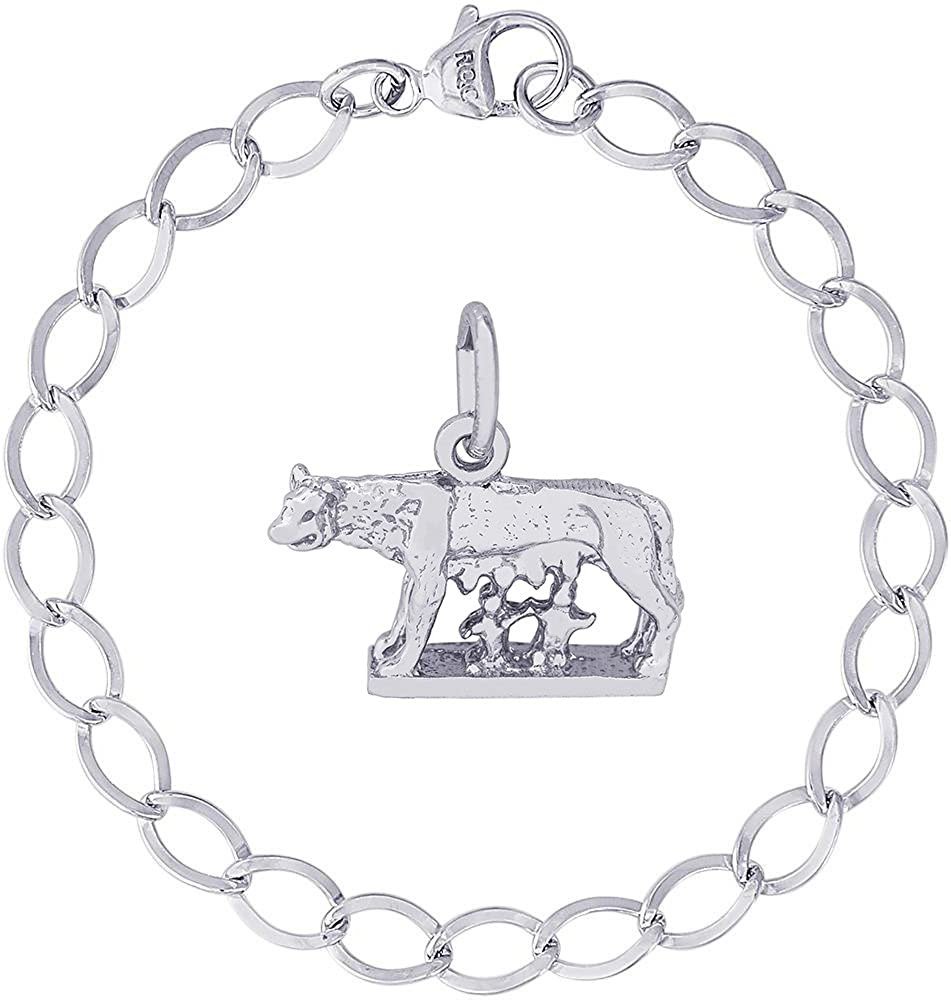 Rembrandt Charms Romulus and Remus Charm with Lobster Clasp