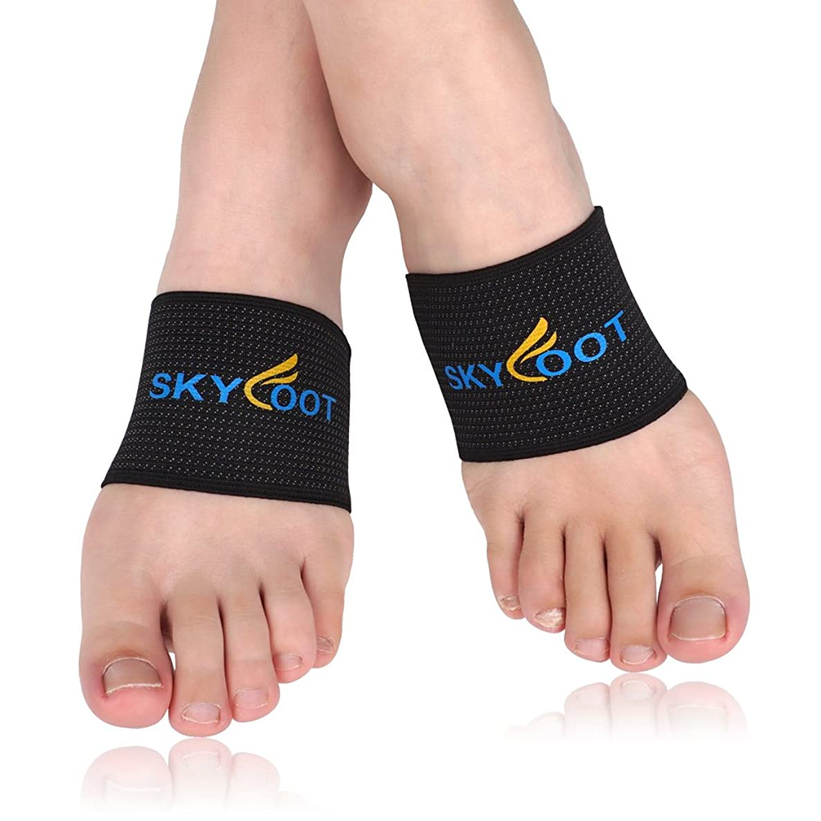 Skyfoot's Compression Copper Arch Support Socks, Plantar Fasciitis Braces / Sleeves Relief Pressure for Flat Feet (SMALL - W4.5-9 | M4.5-8)