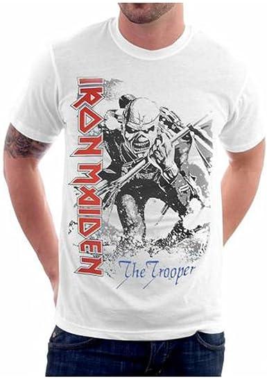 FEA Iron Maiden The Trooper - Camiseta con estampado grande ...