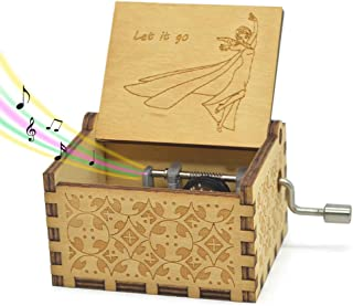 Sooye Frozen Music Box- 18 Note Mechanism Antique Carved Music Box Crafts Melody Castle..