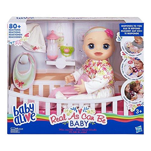 Hasbro Baby Alive Mein kleines Wunder, interaktive Babypuppe mit lebensechten Funktionen