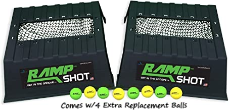 RampShot Plus Game Set Includes Extra Set of Balls- Cornhole on Steroids, Great for Families, Yard, Beach, Tailgate, Camping - Includes 2 Ramps, 8 Balls, 2 Stickers, 2 Nets, and Instructions