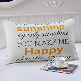 Sleepwish You Are My Sunshine Pillowcase Home Decorative My Only Sunshine Cushion Case Valentines Gifts for Couples Cute Valentine Day Gift Standardard/Queen(20