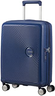 AMERICAN TOURISTER Soundbox - Spinner S Espandibile Bagaglio a Mano, Spinner S (55 cm - 41 L), Blu (Midnight Navy)