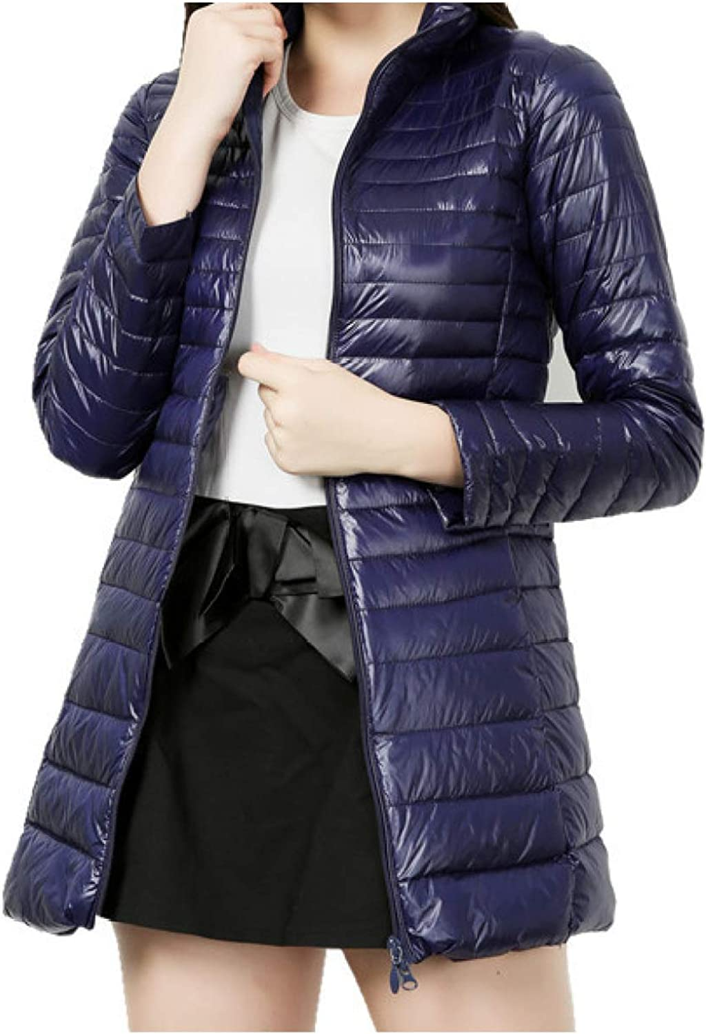 Women's Thickened Padding Jacket Women's Quilted Outerwear Coat with Pocket