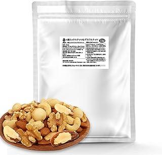 4種 ミックスナッツ&ブラジルナッツ 1kg くるみ・カシューナッツ・マカダミア・アーモンド・ブラジルナッツ 無塩・無油 健康おやつ 健康生活