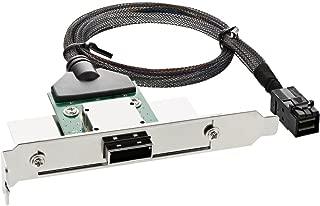 InLine 27656B SAS HD 插槽支架,带电缆(PCI,外部 SFF-8088 连接到内部 SFF-8643) - 0.5 米
