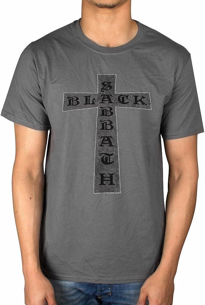Camiseta con diseño de cruz de Sabbath oficial de la banda Rock Merch