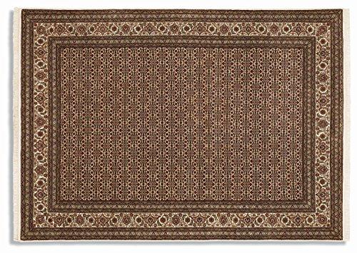 PARISA HERATI un tapis noué main d`orient classique laine beige Taille: 200x300 cm