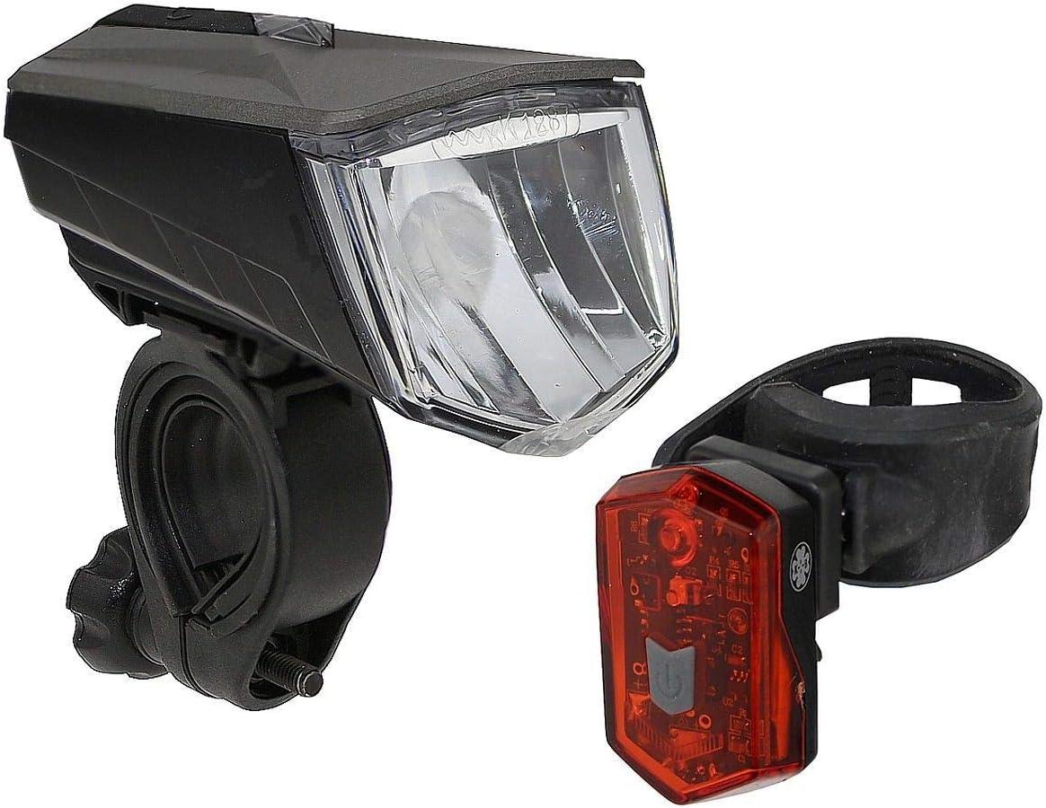 StVZO Osram mega-hell neu Büchel Vail Fahrradlampe 80 Lux Li-ion Akku gem