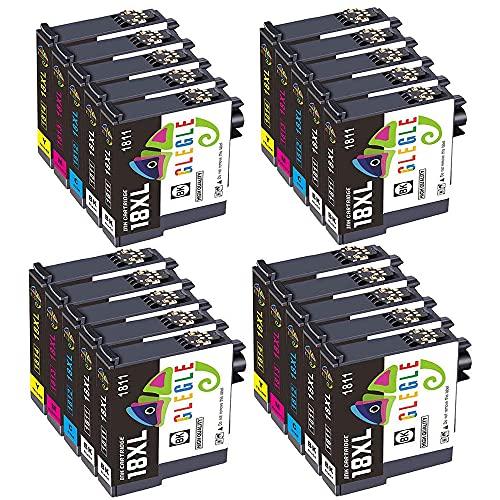 GLEGLE 18XL 18 XL Cartucce Sostituzione per Epson 18 Cartucce 20 Compatibile per Epson Expression Home XP-202 XP-305 XP-415 XP-412 XP-215 XP-312 XP-212 XP-102 XP-405 XP-205 XP-302 XP-402 XP-315 XP-30