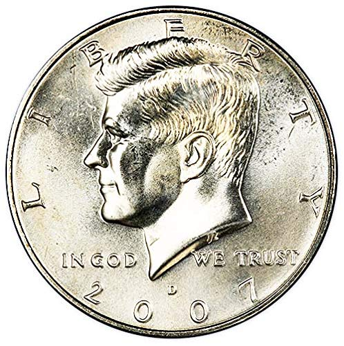 2007-D-Satin-Finish-Kennedy-Half-Dollar-Choice-Uncirculated-US-Mint