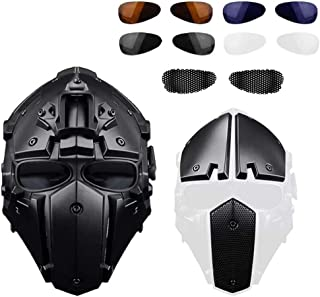 ActionUnion Fast Tactical Helmet Full Face Head Mask&Visor Goggles Protective Fast Mask for Airsoft Military Hunting Paintball CS Necessary Riding Motorcycle Cosplay Movie Prop