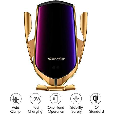 Hinyx Kabelloses Auto Ladegerät 2 In 1 Qi 10 W Schnellladung Automatisches Spannen Auto Entlüftung Halterung Handyhalter Für Iphone 11 Pro Xs Max Xr X 8 Plus Samsung S9 S9 S8 S8 S7 Note 8 Elektronik