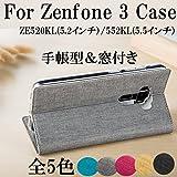 Eisyodo ASUS ZenFone 3 (ZE520KL 5.2インチ) 手帳型ケースカバー 窓付き ゼンフォン3 ZE520KLケース PUレザー 対応機種:ZE520KL Fuchsia