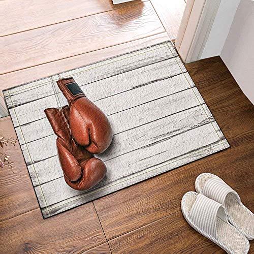 lovedomi Sporter Cor - Guantes Cuero Boxeo para Colgar alfombras baño Madera Felpudo Antideslizante entradas Piso Puerta Entrada Aire Libre Interior Alfombrilla baño para niños Accesorios