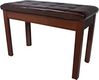 Chromacast Padded Wooden Double Size Piano Bench, Walnut