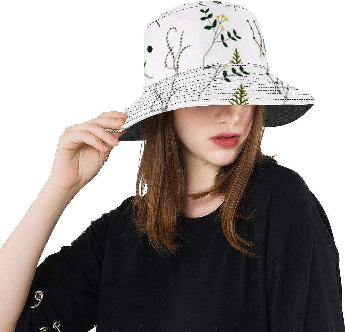 Unique Bucket Hat Floral Elements Collection Design Hand Lowest price challenge C Luxury Drawn