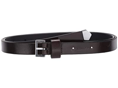 AllSaints 18mm Mini Sanded Stud Belt (Black) Women