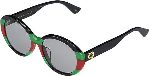 Shiny Black/Web Green/Red/Green