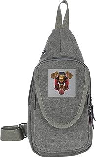 Judge Dredd Dog Snapchat Filter Traveling Chest Bags For Men&Women Multipurpose Casual Daypack Hiking Shoulder Bag