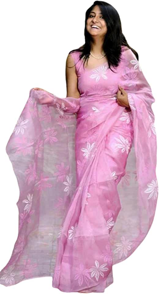 Indian Fashion sense Letest New Degine Saree For Womens Pure Organza Silk Saree With Heavy Degital Print Work Saree