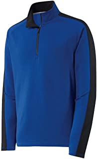 Mens Textured Colorblock 1/4-Zip Pullover Sizes XS-4XL
