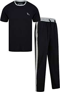 Tokyo Laundry Mens Pyjama Set with Check Bottoms & Short Sleeved Top