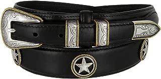 Oil-Tanned Leather Western Ranger Star Belt for Men