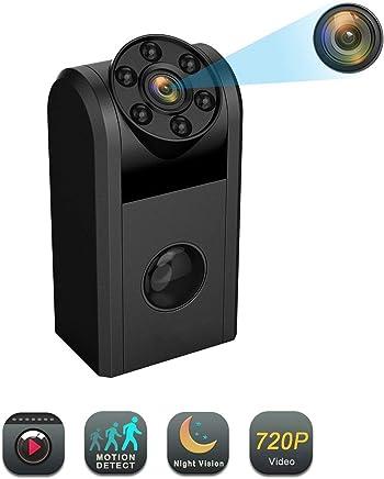 MUTANG 1080P Mini Spy Camera con Visione Notturna, Motion Detection Camera Videoregistratore Portatile per sorveglianza di Sicurezza Domestica (con Scheda di Memoria 16G) - Trova i prezzi più bassi