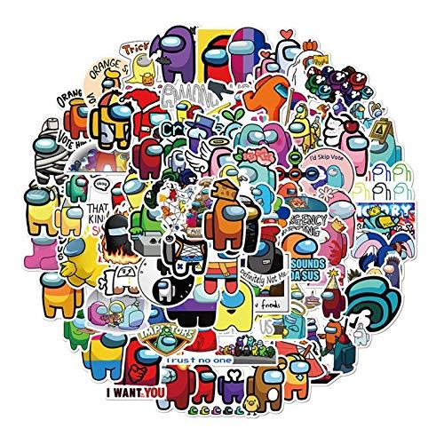 ADosdnn 100pcs Juego Caliente Entre Copa de Agua Nos Graffiti Pegatinas Juguetes de Equipaje Caja Ordenador Guitarra Impermeable sin Salir de Pegamento Etiqueta Pegatinas de Graffiti (Color : Ivory)
