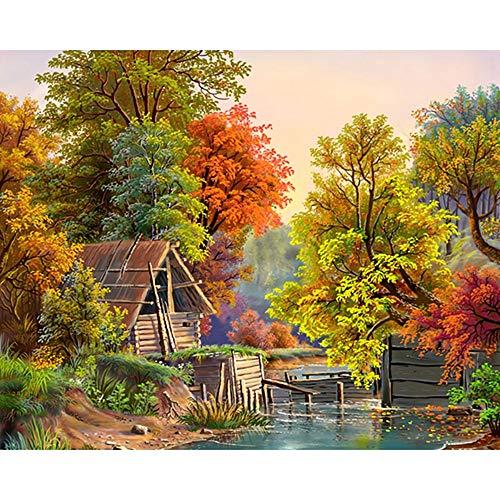 ATggqr Puzzle Adultos 1000 Piezas 50x75cm Riverside Lodge Juegos Educativos Puzzles Cerebral Juego de Alta dificultad Regalo para Niño