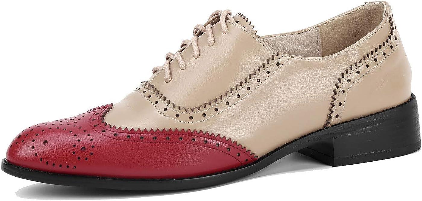 予約販売 U-lite Women's Perforated Lace-up Leather Fla ☆国内最安値に挑戦☆ Multicolor Wingtip