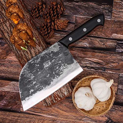 Cuchillo de cocina forjado a mano cortando cortando corte cuchillos de cutador de carne de doble propósito Hecho a mano Herramientas de cocina al aire libre