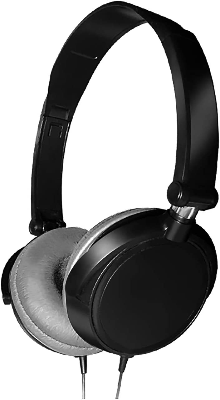 Wired Over Ear Headphones, Whuooad Lightweight Wired Foldable Headphones with Mic Headsets Bass HiFi Sound Music Stereo Earphone 3.5mm Audio Jack for Smartphone Tablet Computer PC Laptop (Black)