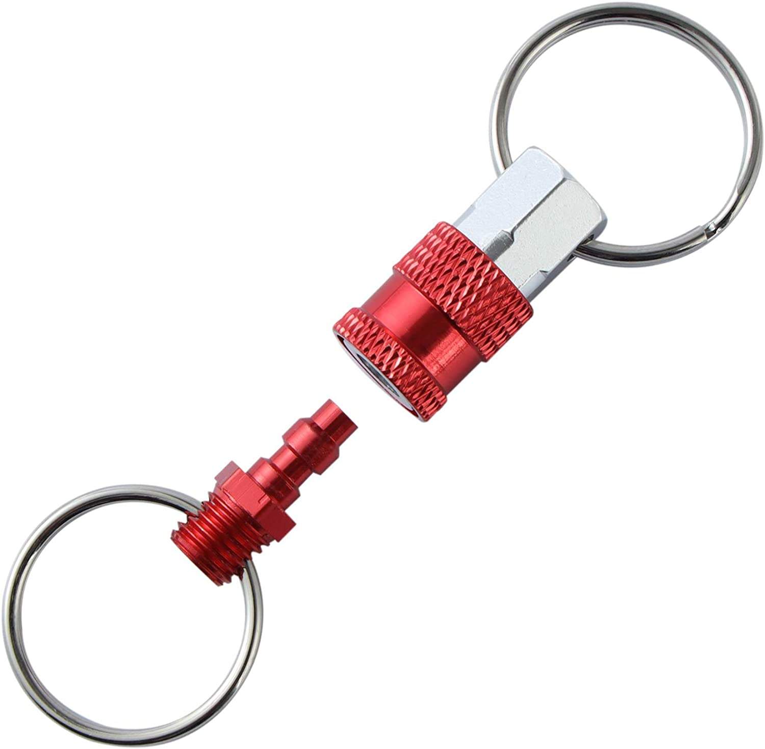 Purse /& Belt Secure Key Attachment to Bag Easy Access to Keys 4 Pack Quick Release Detachable Pull Apart Keychain