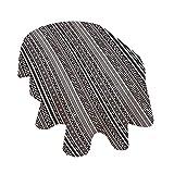 Mantel ovalado de decoración antigua, juego de viejos bordes griegos tradicionales neoclásicos geométricos antiguos diseños de poliéster, 150 x 120 cm, para comedor y cocinas, color negro y blanco