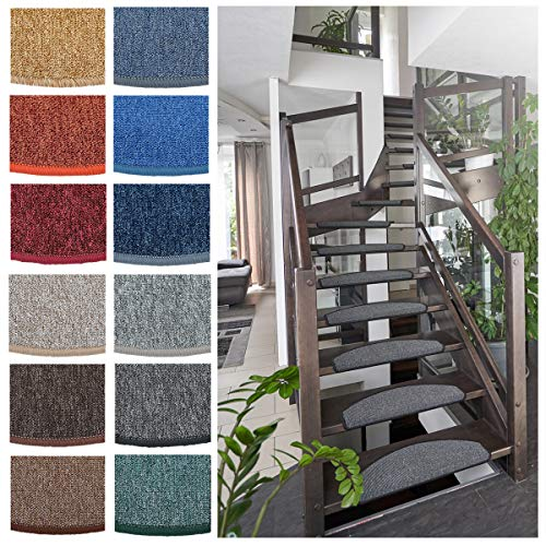 Heimtexland Typ629 Trapmatten, 5 stuks, trapbeschermers, trapbekleding, trappen, traptreden, tapijt