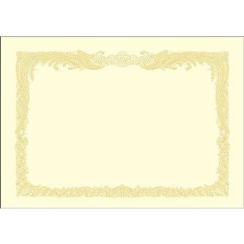 ササガワ 賞状用紙 タカ印 OA対応 縦書き用 クリーム A4 10枚 10-1067