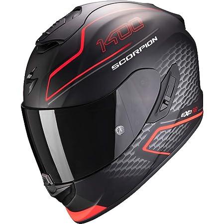 Scorpion Herren Nc Motorrad Helm Schwarz Rot S Auto