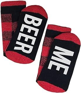 Unisex Funny Saying Socks Beer Me Graphic Women Mens Novelty Cotton Crew Sock